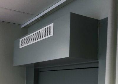 Ljuddämpare ventilation överluft