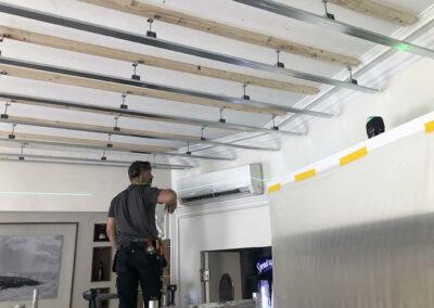 Ljudisolering restaurang tak lägenhet hangers