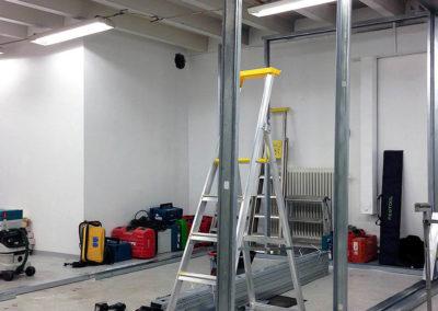 studio bygge ljud flytande rum akustik