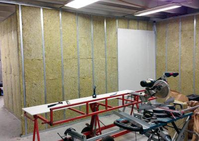 studio bygge ljudisolering flytande rum akustik