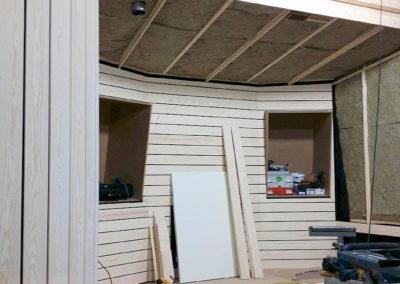 studio bygge ljudisolering kontrollrum akustik