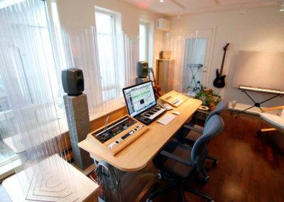 studio musik kontrollrum akustik svana diffusor